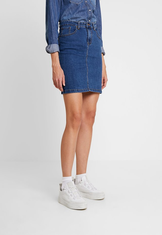 DENIM SKIRT PENCIL - Jupe trapèze - blue denim