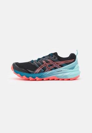 GEL TRABUCO 9 - Trail running shoes - black/blazing coral