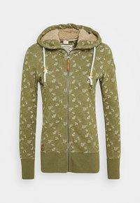 Ragwear - BEATER ZIP ORGANIC - Zip-up hoodie - green - 0