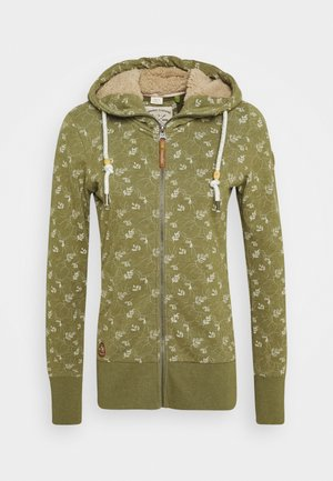 BEATER ZIP ORGANIC - Sweatjacke - green