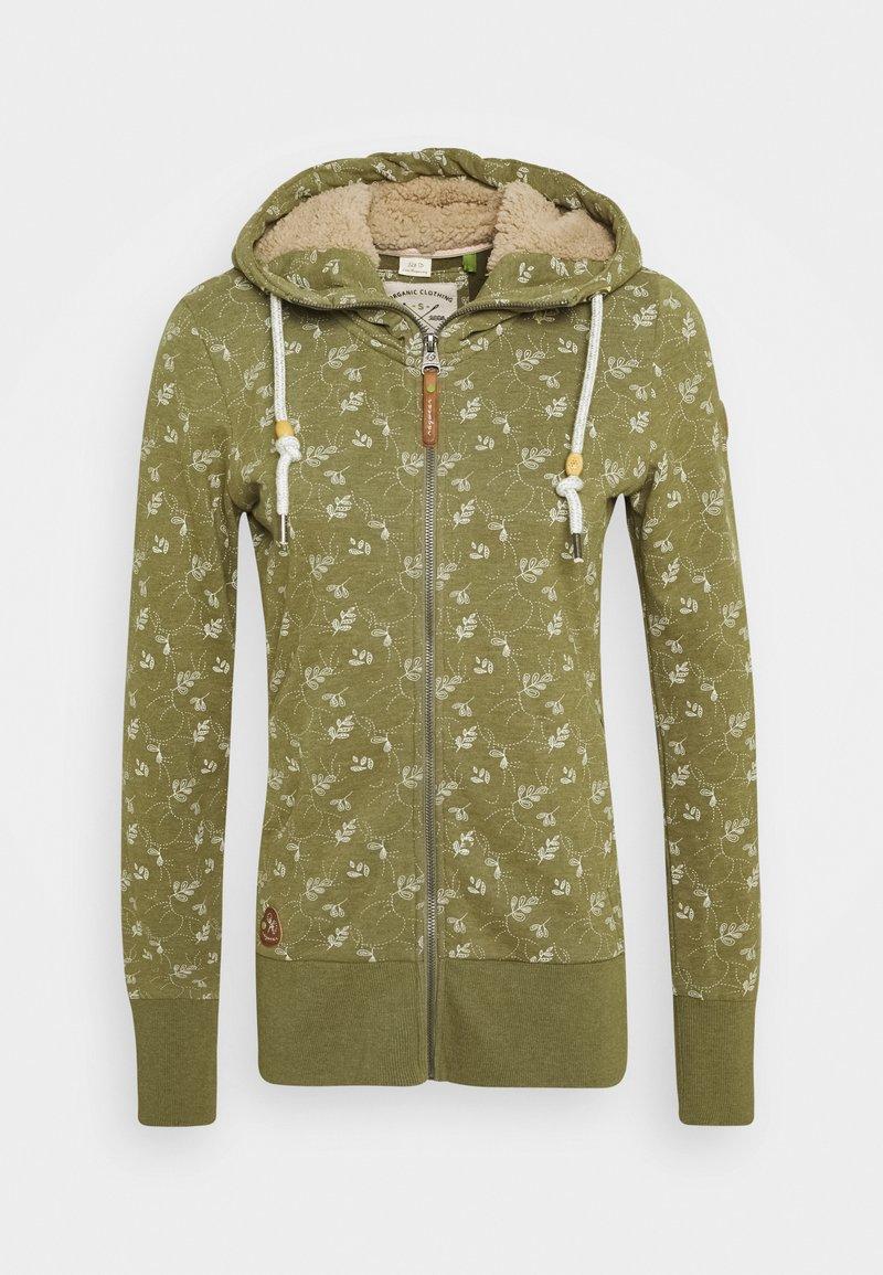 Ragwear - BEATER ZIP ORGANIC - Zip-up hoodie - green
