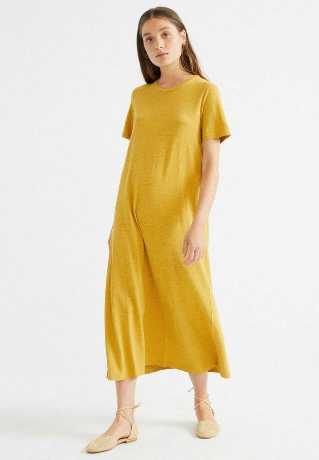 Jersey dress - mustard