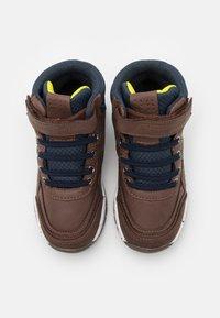 Kappa - LITHIUM UNISEX - Hiking shoes - brown/navy - 3