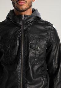 YOURTURN - Imitatieleren jas - black - 4
