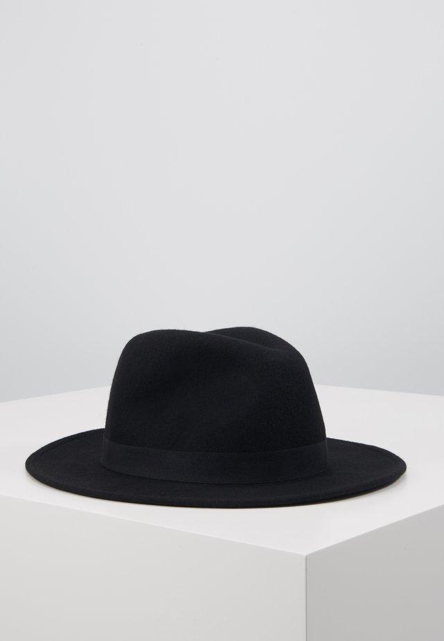 MELTON FEDORA - Hut - black