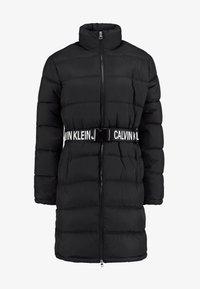 Calvin Klein Jeans - LONG PUFFER WITH WAIST BELT - Veste d'hiver - black - 4
