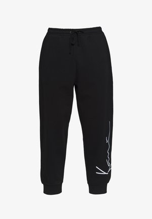 SIGNATURE RETRO - Joggebukse - black/white