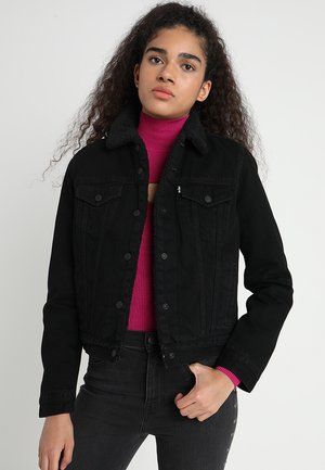 ORIGINAL SHERPA TRUCKER - Kurtka jeansowa - forever black