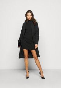 Missguided Petite - HIGH NECK MINI DRESS - Shift dress - black - 1