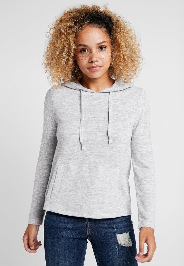 HOODED - Bluza z kapturem - light grey
