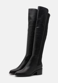 Steve Madden - GRAPHITE - Over-the-knee boots - black paris - 2