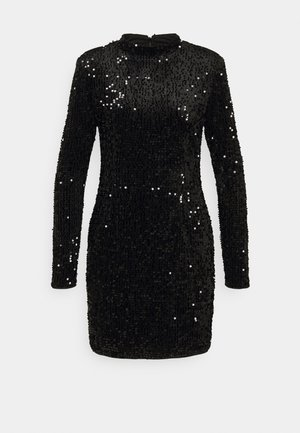 INA SEQUINS DRESS - Cocktailjurk - black