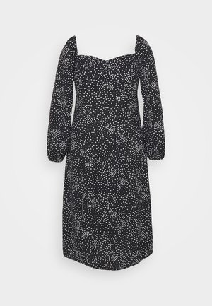 MILKMAID DRESS POLKA - Day dress - black