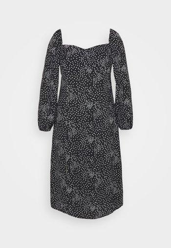 MILKMAID DRESS POLKA - Day dress - black