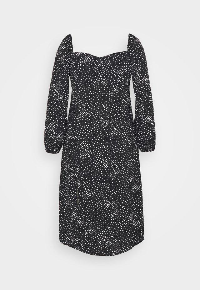 MILKMAID DRESS POLKA - Hverdagskjoler - black