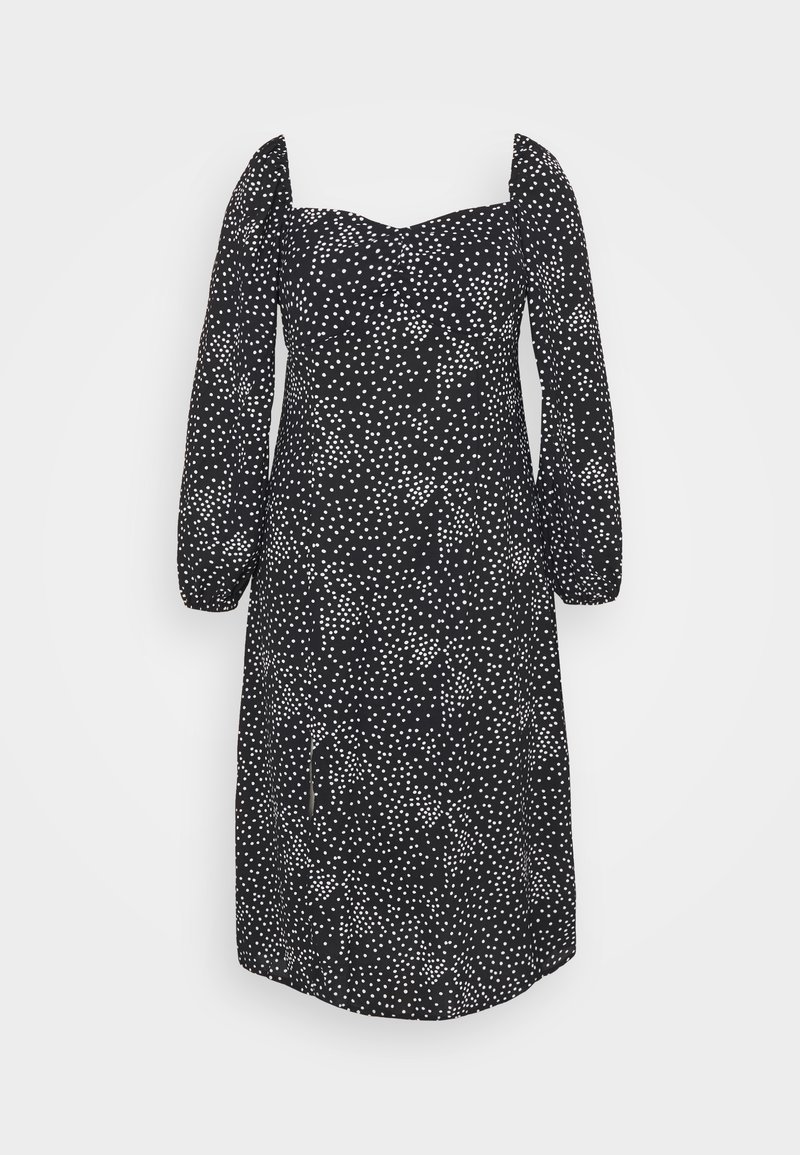 Missguided Plus - MILKMAID DRESS POLKA - Day dress - black