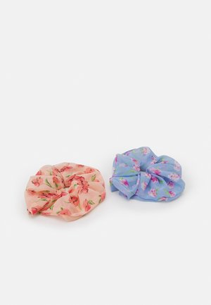 PCNAIA OVERSIZED SCRUNCHIE 2 PACK - Hair styling accessory - bridal rose/blue