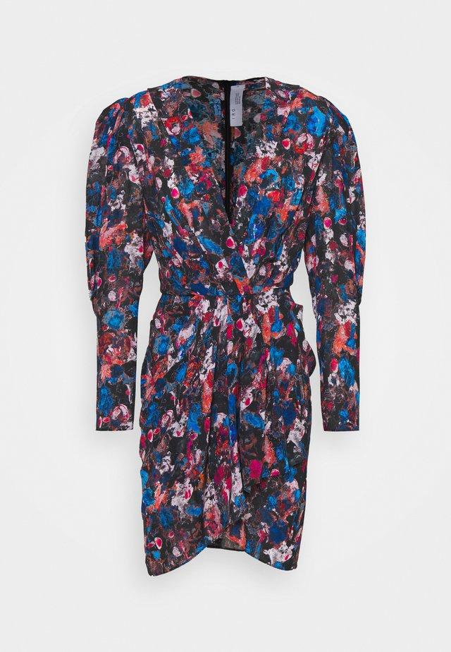 FORRIE DRESS - Freizeitkleid - black/blue