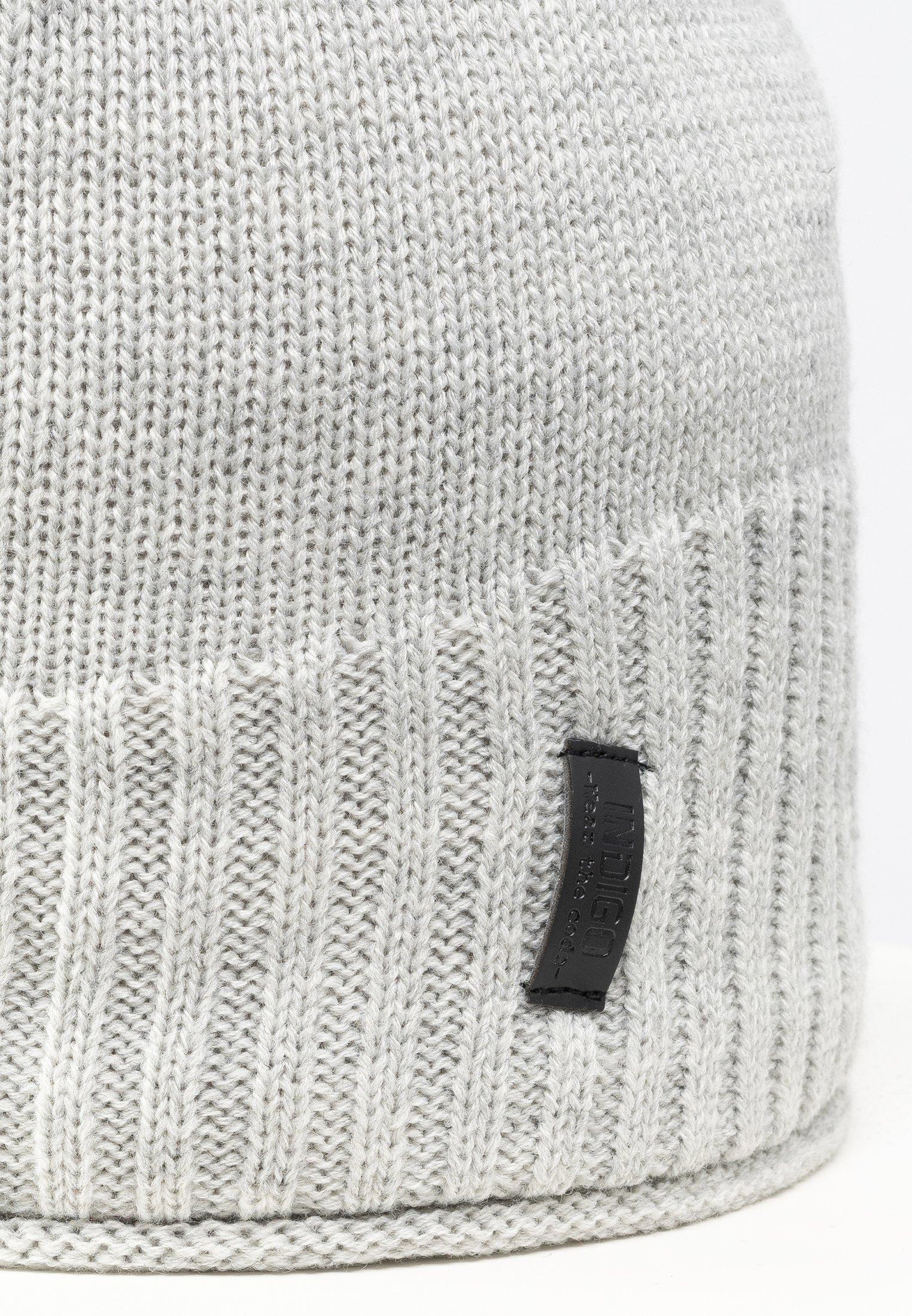 Indicode Jeans Mütze - Light Grey/hellgrau