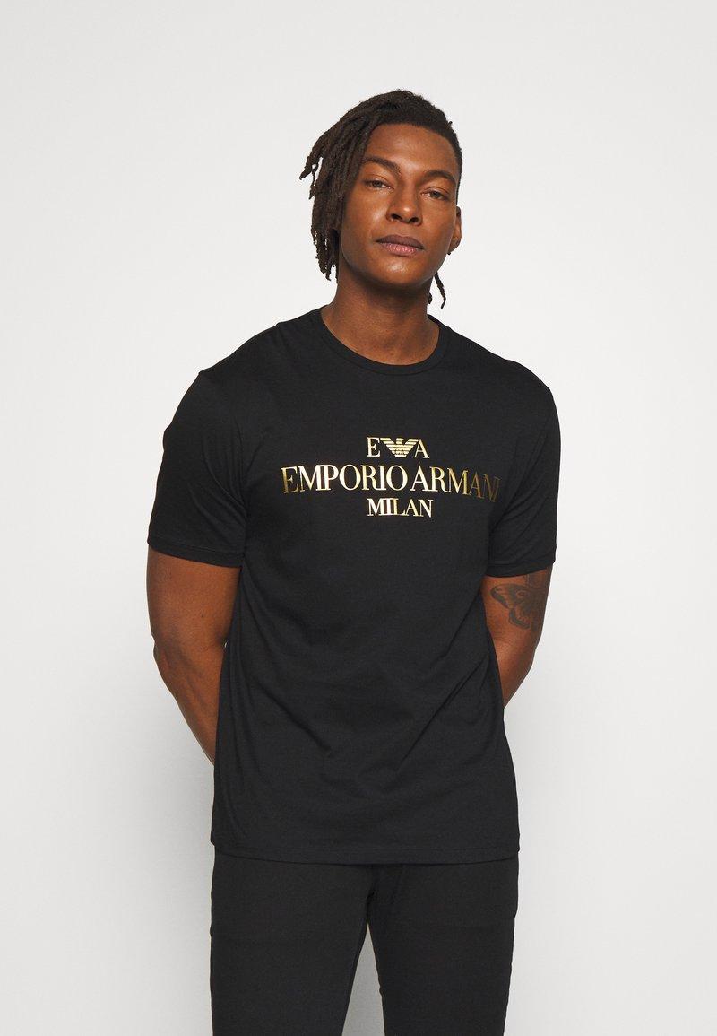 Emporio Armani - T-shirt z nadrukiem - nero