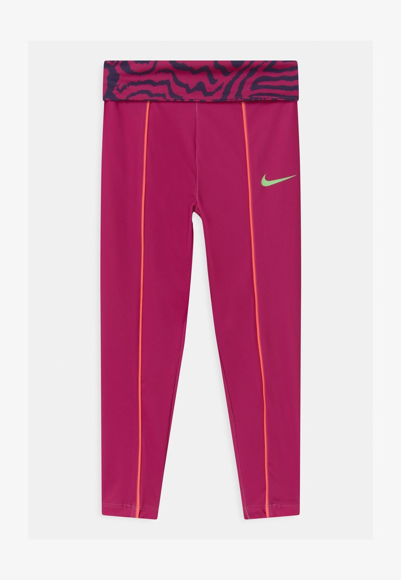 Nike Sportswear - PRINTED - Legginsy - fireberry