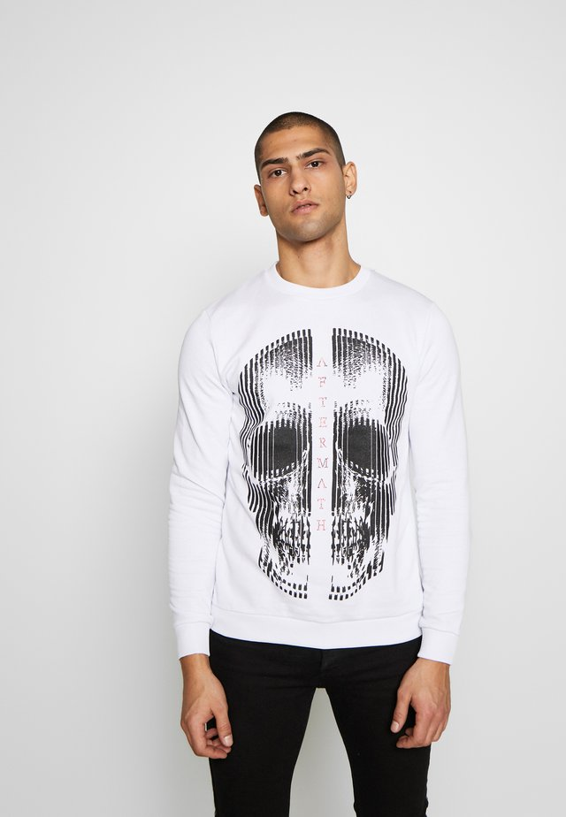 CRYSTAL STUDDED WITH SKULL PRINT - Sweater - white