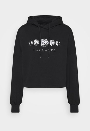 Printed Oversized Sweatshirt - Sudadera - black