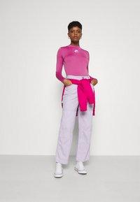 Nike Sportswear - AIR MOCK - Long sleeved top - purple smoke/fireberry/white - 1