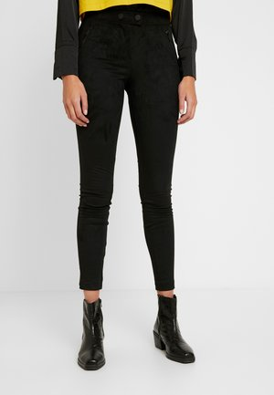 ONLTIA TUVA LEGGING - Trousers - black