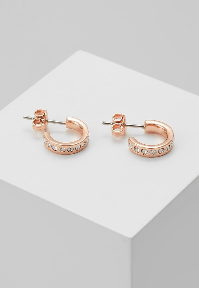 SEENI MINI HOOP HUGGIE EARRING - Náušnice - rose gold-coloured