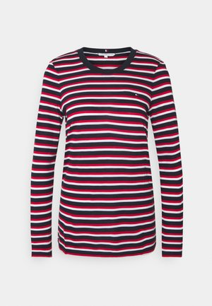 REGULAR OPEN - Long sleeved top - ombre/red/white/blue