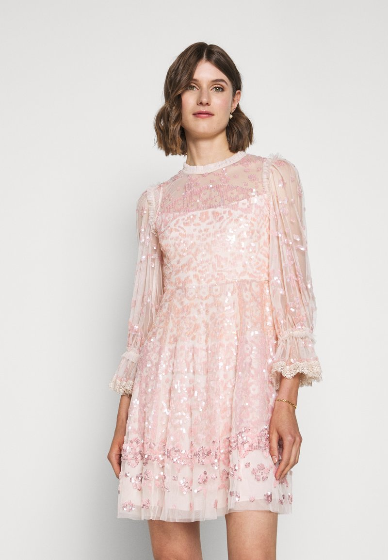 Needle & Thread - PATCHWORK DRESS - Cocktail dress / Party dress - ballet slipper/pink
