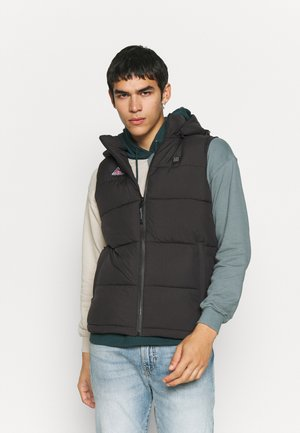 SLEEVELESS PUFFER WITH HOOD HEATING SYSTEM - Vest - black
