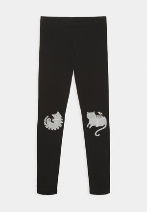 MINI KNEEPATCH SWEET - Leggings - black