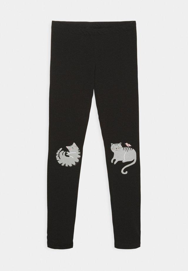 MINI KNEEPATCH SWEET - Leggings - black