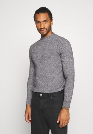 Sweter - charcoal/grey marl twist