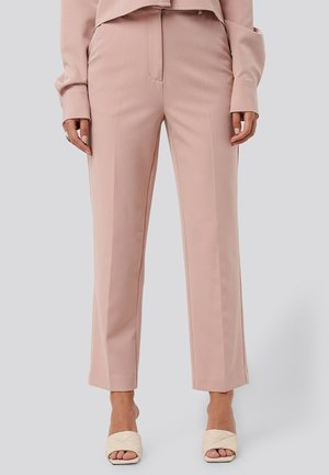 TAILORED CROPPED - Trousers - dusty pink