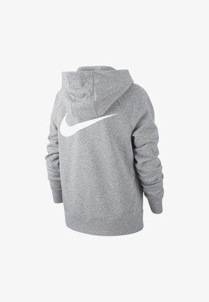Zip-up hoodie - carbon heather/carbon heather/white