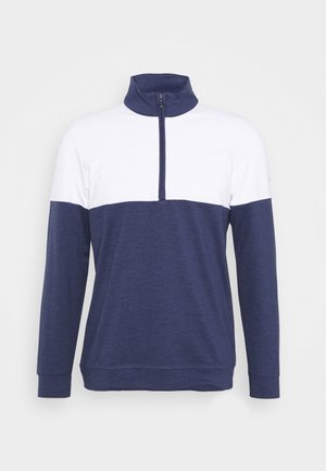 CLOUDSPUN WARM UP ZIP - Sweatshirt - peacoat/bright white