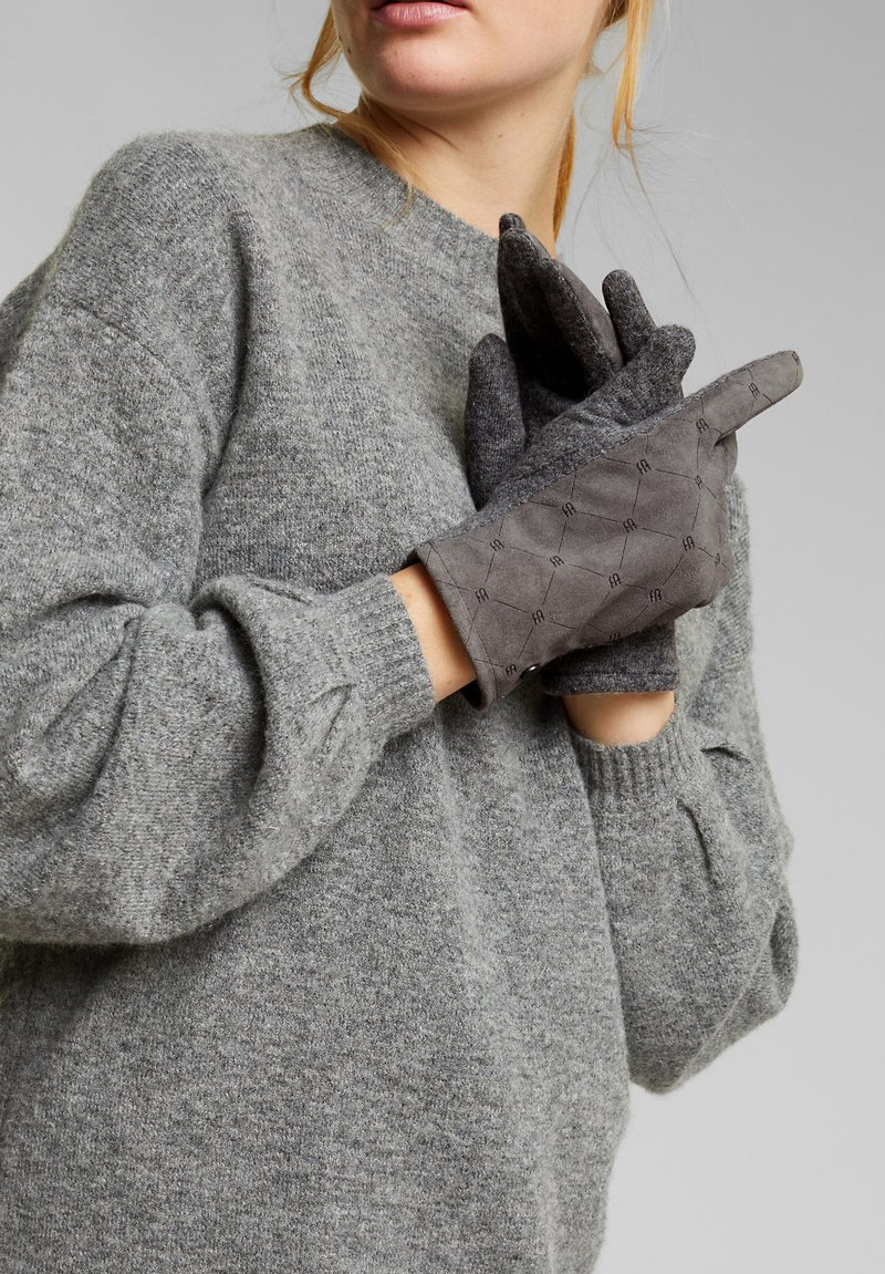 Esprit - Gloves - gunmetal