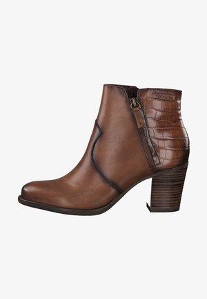 Ankle boots - cognac/croco 379