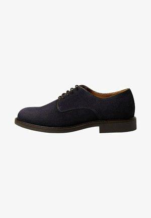 LEO - Volnočasové šněrovací boty - modrá