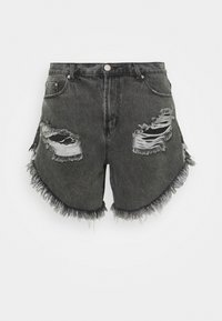 Glamorous Curve - RIPPED  - Shorts di jeans - washed black - 0