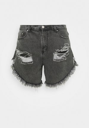 RIPPED  - Shorts di jeans - washed black