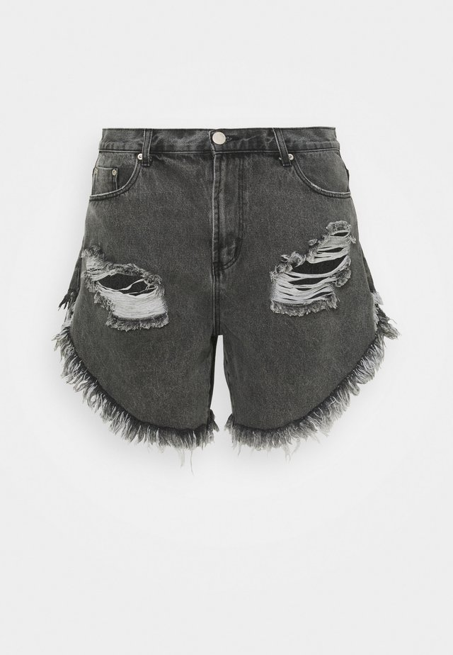 RIPPED  - Jeans Short / cowboy shorts - washed black