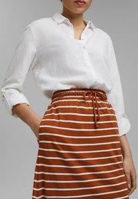Esprit - A-line skirt - caramel - 4