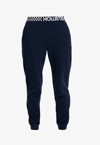 Hollister Co. - HIGH RISE JOGGER WITH LOGO ELASTIC BAND - Tracksuit bottoms - navy - 3
