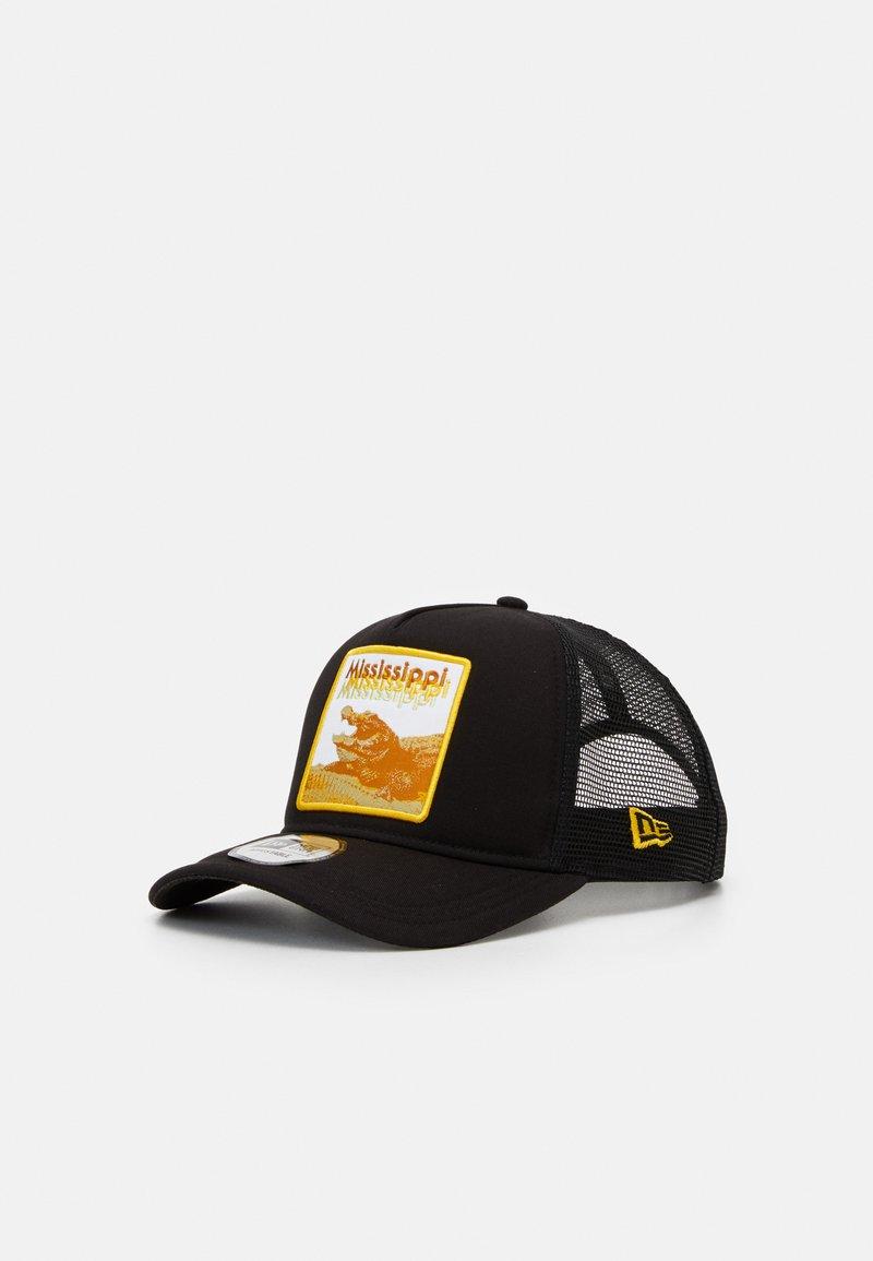New Era - TRUCKER  - Cap - black/yellow