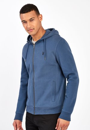Zip-up hoodie - mottled royal blue