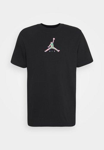 BRAND CREW - T-shirt con stampa - black